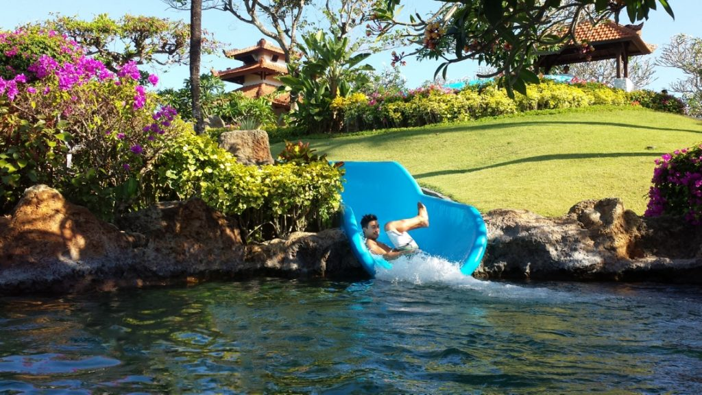 Ty on the Water Slide