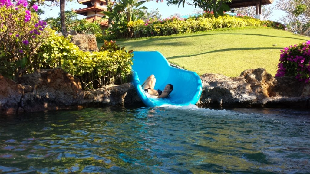 Soph on the Water Slide