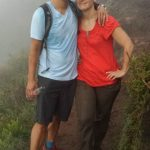 Ken and Stacey on Mt Batur