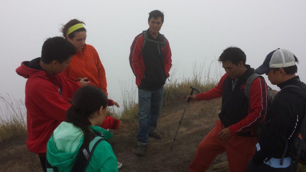 Our Guide draws Mt Batur