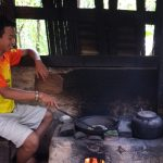 Roasting at Coffee Plantation