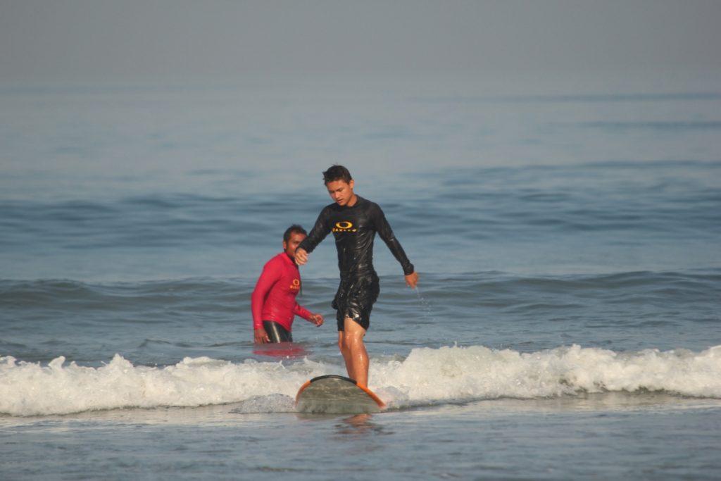 Tyler Surfing (Courtesy Odyssey's Surf School)