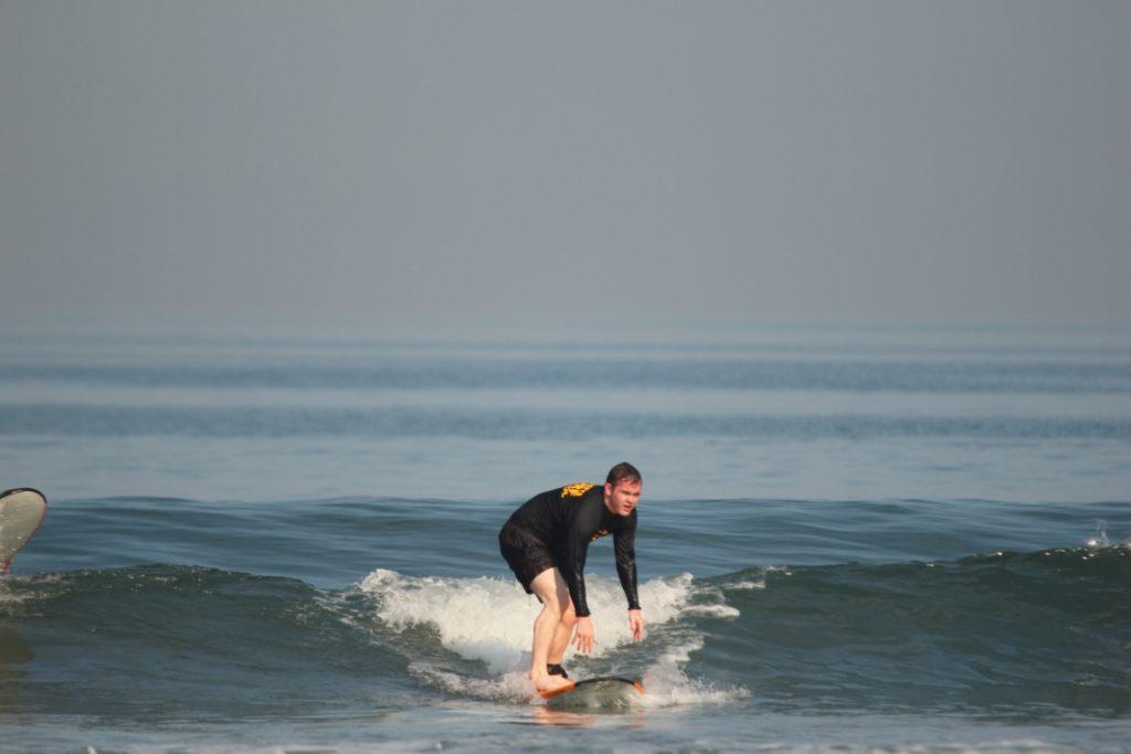 George Surfing (Courtesy Odyssey's Surf School)