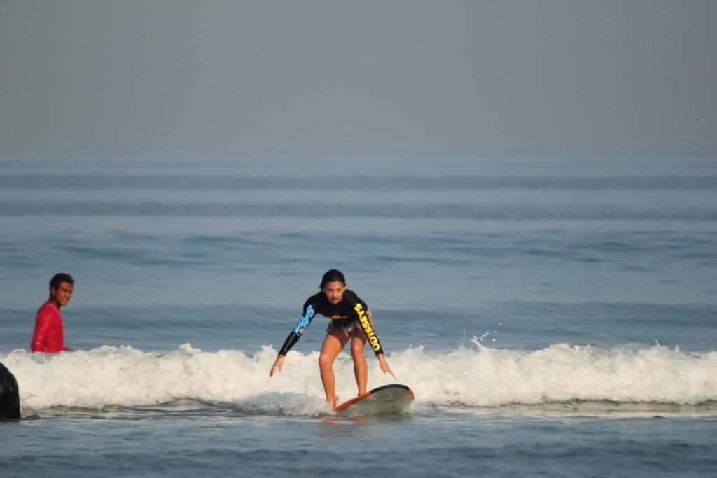 Sophie Surfing (Courtesy Odyssey's Surf School)