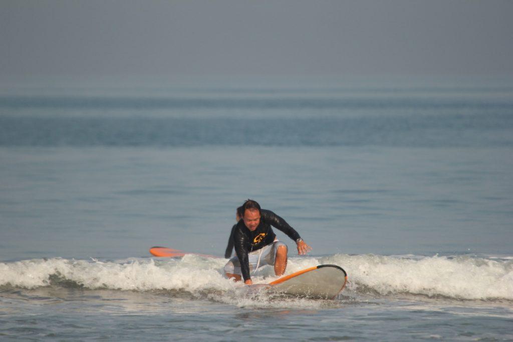 Ken Surfing (Courtesy Odyssey's Surf School)