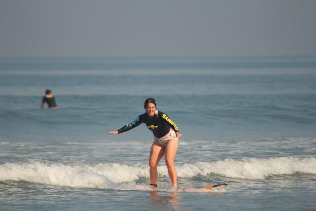 Stacey Surfing (Courtesy Odyssey's Surf School)